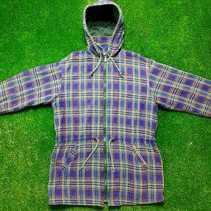 VTG 90s Northern Reflections Plaid Zip Up Small